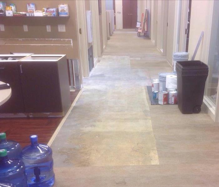 Commercial Water Damage Remediated After
