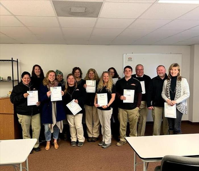 15 Newly Certified IICRC Water Damage Restoration Technicians