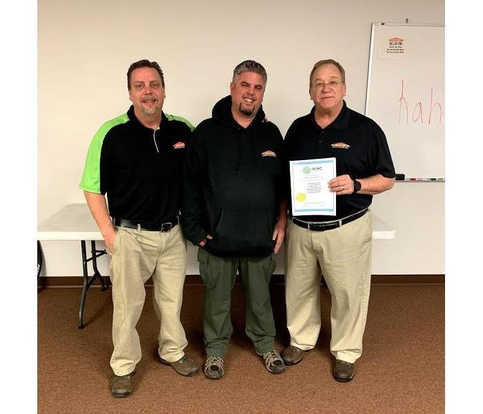 Why SERVPRO Three IICRC Master Certified Technicians